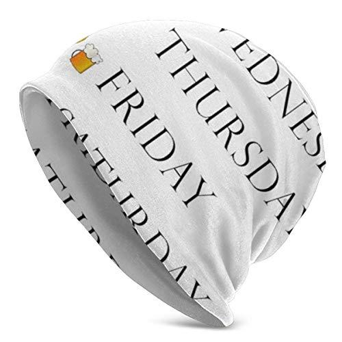 Beanie Knit Mats für Männer und Frauen - Weekdays Stylish Toboggan Skull Cap Black