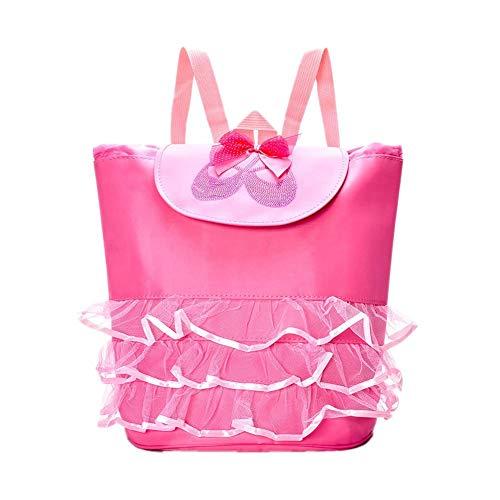 happygirr - Mochila Infantil para Danza de Ballet (Resistente al Agua, para Bailarinas), Color Rosa