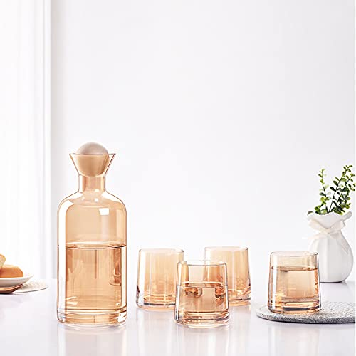 Xuefang Vaso de botella fría de vidrio Set recto durable conveniente para casas de té caseras hoteles clubes