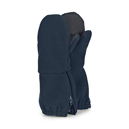 Sterntaler Stulpen-Handschuhe mit Reißverschluss, Alter: 3-4 Jahre, Größe: 3, Blau (Marine)