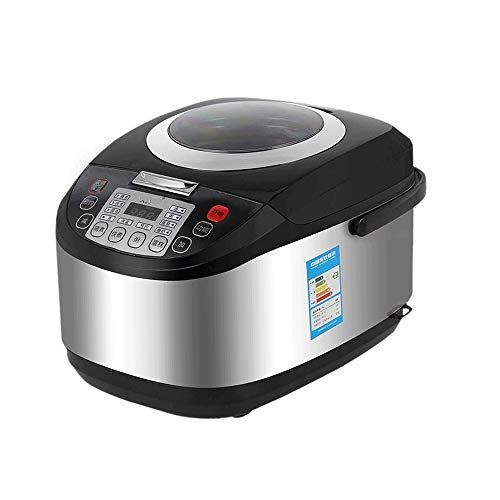 WCJ roestvrij stalen rijstkoker intelligente multifunctionele rijstkoker met anti-aanbaklaag, grote capaciteit 5 l timing