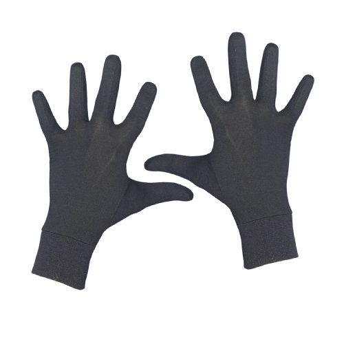 Terramar Adult Thermasilk Glove Liner (Black, Large)