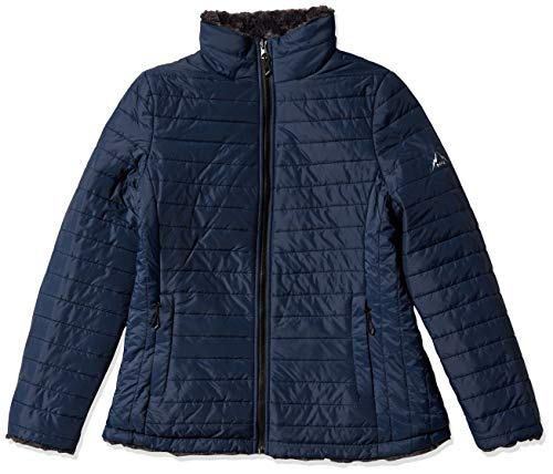 HFX Women's Reversible Quilted Cozy Jacket, Marine Navy, Large