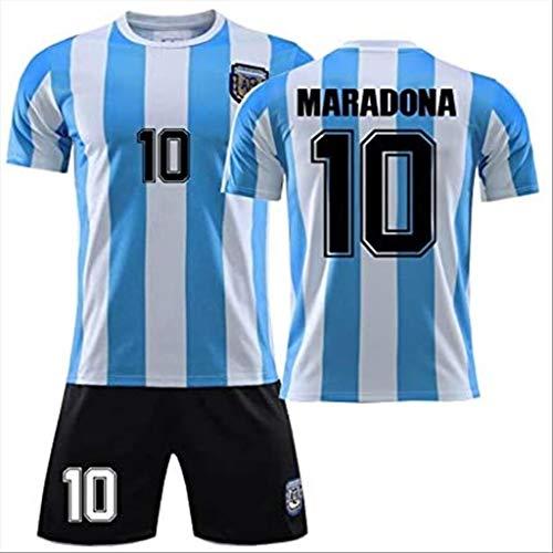 XIETARPAULIN Maradona Football Jersey No. 10 Argentina Retro 1986 Campeón de la Copa Mundial Fútbol Jersey Traje Hombres Y Mujeres Sportswear Boys Ropa