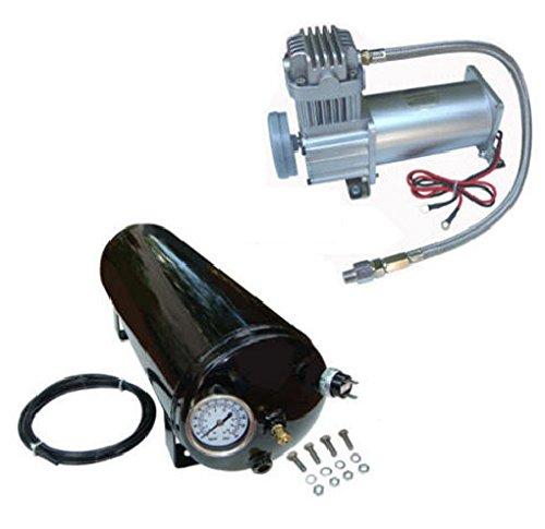 Viking Horns V101C/1005ATK 3 Gallon 12 Liter Air Tank + 150 PSI Compressor Kit