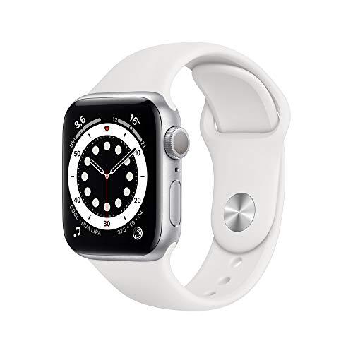 AppleWatch Series6 (GPS, 40mm) Aluminiumgehäuse Silber, Sportarmband Weiß