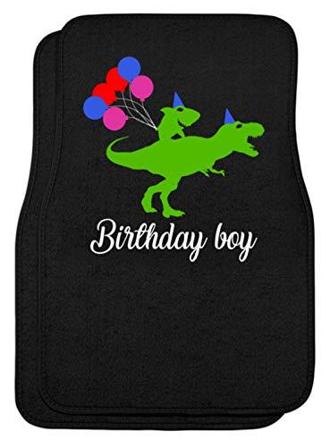 SPIRITSHIRTSHOP Birthday Boy - groene haai op groene dino - ballonnen - automatten
