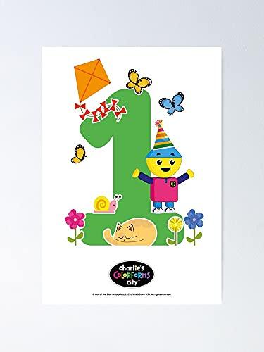 Situen Nummer 1 Charlie's Colorforms City Poster – voor kantoordecoratie, slaapzaal, klaslokaal, gymnast en Lgbt Besties…