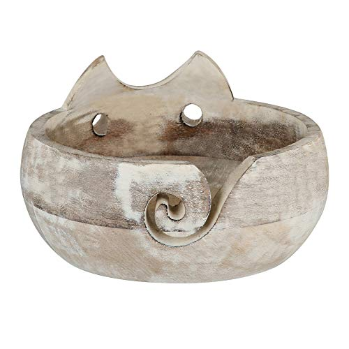 Gifts for Women Wooden Yarn Bowl Holder Bowls for Knitting Crochet Yarn Winder Knitting Accessories and Supplies Large Size 7