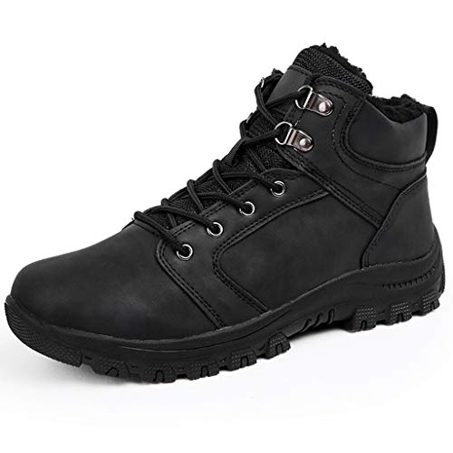 Zphy Men High Rise Outdoor Boots Lightweight Trekking Walking Shoes Non-Slip Wearable Comfortable Shockproof Comfortable Waterproof Christmas Best Gift (Color : Black, Size : 45)
