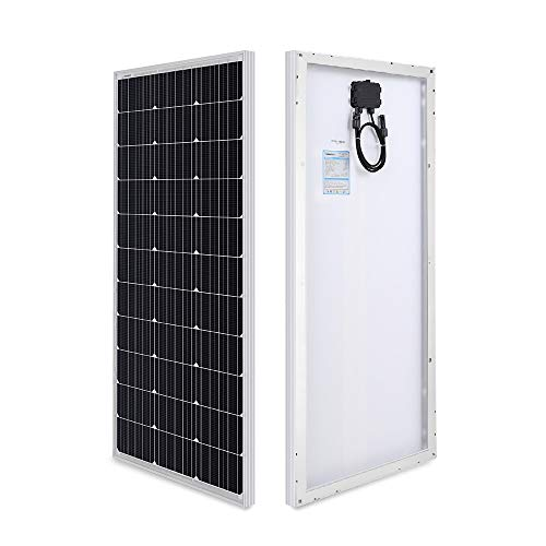 Renogy RNG-100D-SS Solar Panel, Compact Design 42.2 X 19.6 X 1.38 in, High Efficiency Module PV Power for Battery Charging Boat, Single, Caravan, RV and Any Other Off Grid Applications