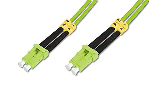 DIGITUS LWL Patch-Kabel OM5 - 2 m LC auf LC Glasfaser-Kabel - LSZH - Duplex Multimode 50/125µ - 40 GBit/s - Grün