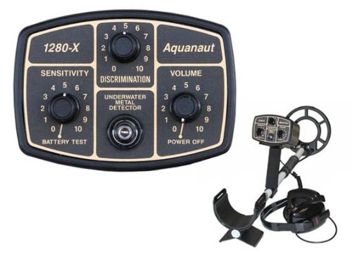 Fisher 1280-X Aquanaut Metal Detector with 10' Search Coil