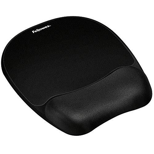 Preisvergleich Produktbild Fellowes Handgelenkauflage Memory Foam mit Mauspad für optische Mäuse,  ergonomisch,  mit flexibler Schaumstofffüllung und Stoffbezug,  Farbe: schwarz