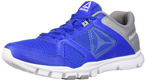 Reebok Men's Yourflex Train 10 Cross Trainer, Vital Blue/Cool Shadow/wh, 7.5 M US
