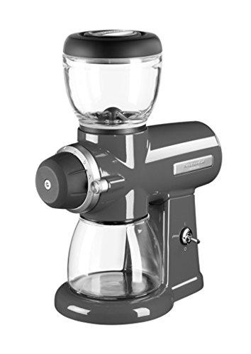 KitchenAid 5KCG0702EMS, ARTISAN Kaffeemühle mit Scheibenmahlwerk, MEDALLION-SILBER