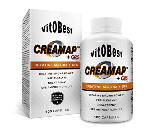 Suplemento Creatina CREAMAP + GFS AMINOS - Suplementos Deportivos - Vitobest (100 Caps)