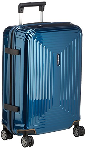 Samsonite Neopulse - Spinner S (Largeur : 20 cm) Bagage à Main, 55 cm, 38 L, Bleu (Metallic Blue)
