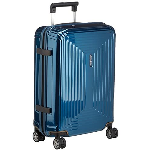 Samsonite Neopulse Spinner S (Larghezza: 20 cm) Bagaglio a Mano, 55 cm, 38 L, Blu (Metallic Blue)