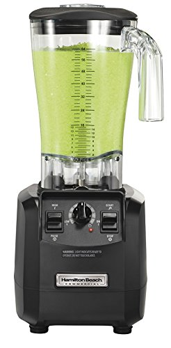 """Hamilton Beach Commercial HBH550 The Fury Blender, 3 hp, 2 Speeds, Pulse, 64 oz./1.8 L Cutter Assembly Polycarbonate Container, 18.04"""" Height, 8.89"""" Width, 8.07"""" Length, Black"""