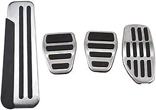 Set pedaliera per Audi Q5 SQ5 FY 2018 2019 LHD Copri Pedale per Auto AT Antiscivolo in Acciaio Inossidabile Acceleratore Frizione Freno per