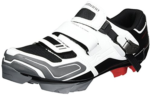 Shimano Erwachsene MTB Schuhe SPD SH XC 51, Weiß/Schwarz, 40