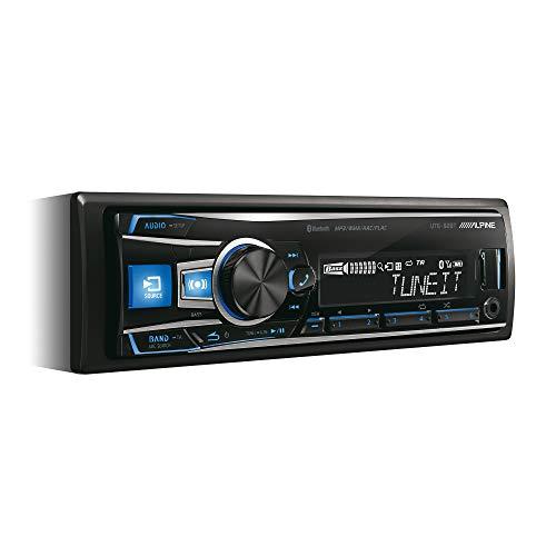 Alpine Electronics UTE-92BT Autoradio Bluetooth 1DIN, Schwarz (RGB Beleuchtung)