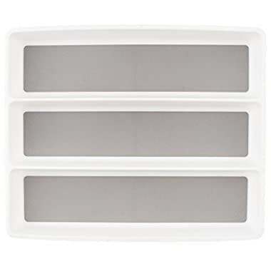 KD Organizers 3-Slot Organizer Tray for Kitchen Utensils and Accessories: Dividers for kitchen, bathroom, desk, dresser or junk drawers