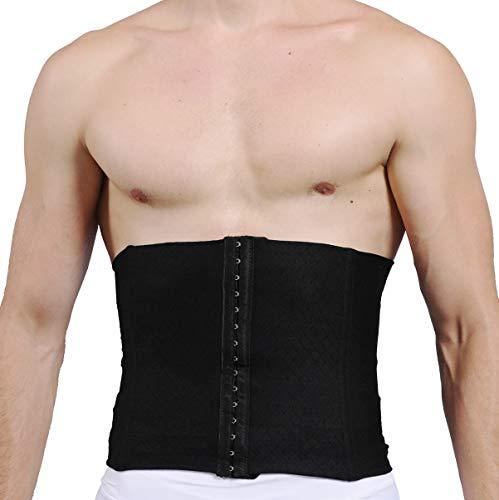 SLIMBELLE Bauchgürtel Herren Shapewear Taillenformer Figurformende Bauchbinde Gürtel Body Shaper mit Stahlstäbchen Männer Slimming Korsett Bauchweggürtel für Sport Fitness
