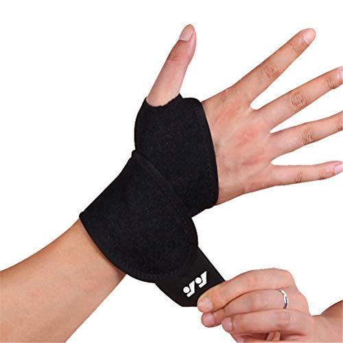 Wrist Bands Wrist Brace for Carpal Tunnel Wrist Support Brace Sports Hand Support Wristbands Wrist Strap for Arthritis Wrists Thumb Black