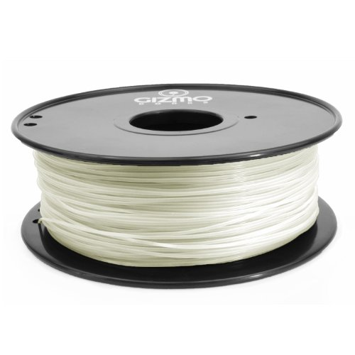 Gizmo Dorks 1.75mm PLA Filament 1kg / 2.2lb for 3D Printers, Transparent
