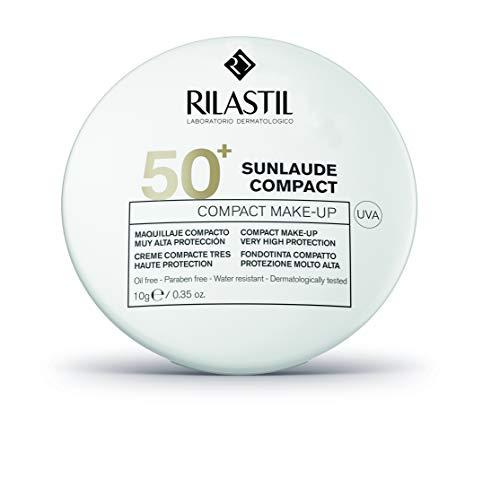 Rilastil Sunlaude - Maquillaje Compacto con Protección Solar SPF 50+, Tono Medium - 10 g