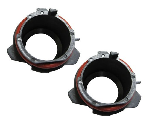 iJDMTOY (2) Xenon HID Bulb Retainer Adapter Holders, Compatible For 1997-2003 BMW E39 5 Series 525i 528i 530i 540i M5 Installing H7 Aftermarket HID LIghts On Low Beam