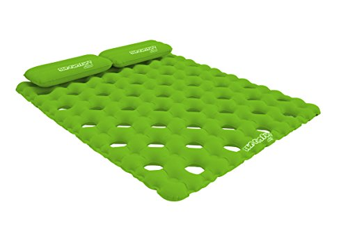 SUN COMFORT COOL SUEDE Double Pool Mattress Lime