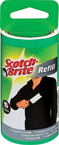 Scotch-Brite 836RP-30 Ersatzrolle für Kleider-Fusselroller, schwarz/weiß, 30 Blatt, 4er Pack (4x1 Stück)