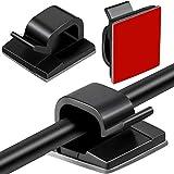Blulu 100 Piezas Mini Clips de Cable de Exterior con Cinta Adhesiva Clips Decorativos de Luces...