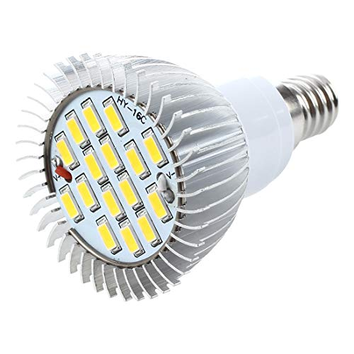TOOGOO(R) 4 X E14 Ampoule Lampe Spot 5630 SMD 16 LEDs Blanc Chaud 3500K 550LM