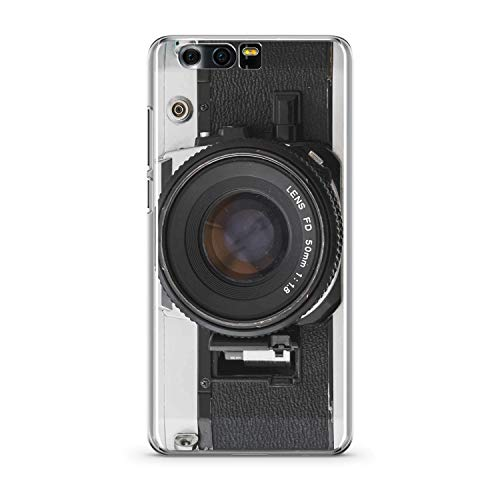 Finoo Handyhülle kompatibel für Huawei Honor 9 - Hülle mit Motiv und Optimalen Schutz TPU Silikon Tasche Case Cover Schutzhülle - Kamera FD Lens