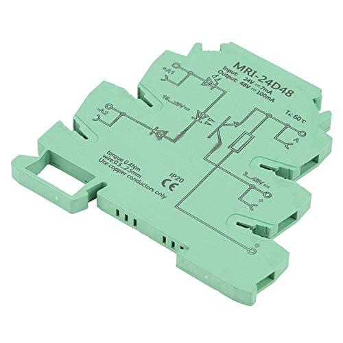 YELLAYBY Retardo de tensión Módulo de relé PLC, Conveniente instalación en Carril DIN de Entrada Módulo de relé de CC fotoeléctrica acoplador de Aislamiento PLC 24 VDC Salida 3-48VDC Plug-in Bridging