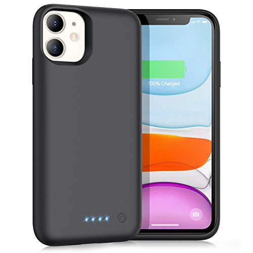 Battery Case for iPhone 11,Upgrade 6800mAh Portable Charging Case for iPhone 11 Rechargeable Backup External Battery Pack Extended Battery Protective Charger Case(6.1 inch)-Black