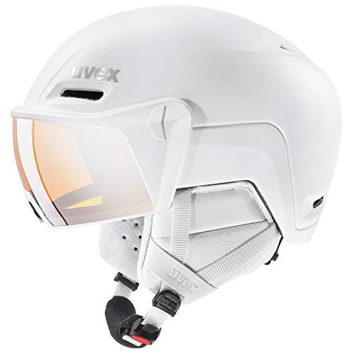 uvex Unisex– Erwachsene, hlmt 700 visor Skihelm, white mat, 52-55 cm