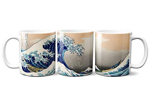 Taza Ola Kanagawa Hosukai Ukiyo-e Estampa Japonesa Japón Ceramica 330 mL