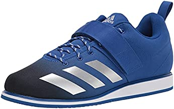 adidas Men's Powerlift 4 Weightlifting Track and Field Shoe, Team Royal Blue/Silver Metallic/Black, 7