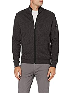 Bugatti Herren Sweat-Shirt Jacke Strickjacke, schwarz, XL