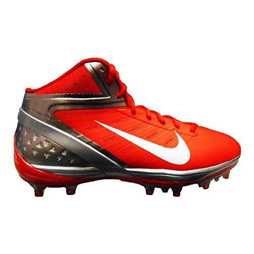Nike Alpha Pro TD Football Cleats (16, Orange Flash/White-Chrome)