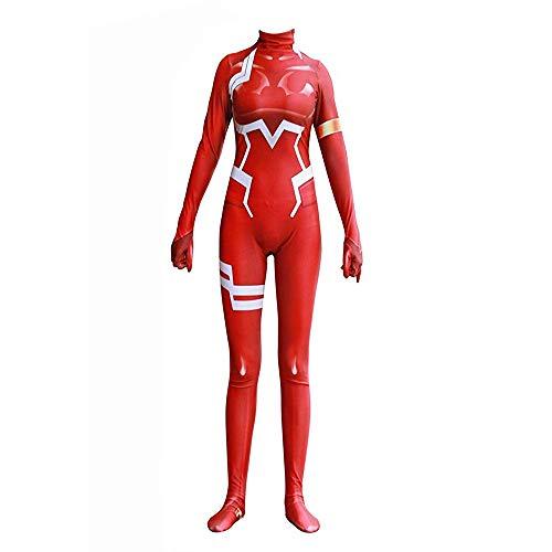 Costume de Cosplay chéri dans l'uniforme Zentai de Collants FRANXX 02 Zero Two Body