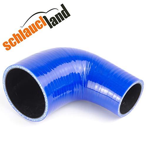 90° Silikon-Reduzierbogen ID 60-51mm blau*** Silikonschlauch Kühlerschlauch Reduzierer