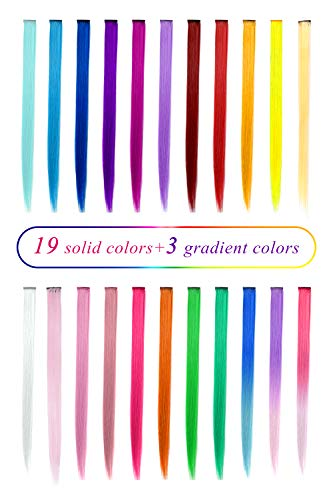Multi-colors Synthetic Party Highlights Extensions
