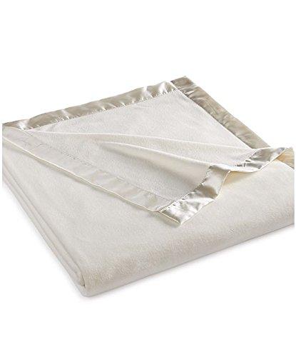 Martha Stewart Easy Care Soft Fleece Decke, Fleece, elfenbeinweiß, Twin
