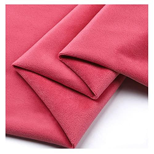La Tela de Terciopelo Dorado de Terciopelo de 153 cm de Ancho por Metro se Utiliza para Vestir Cojines de Boda artesanales Ropa de decoración del hoga(Size:100x153cm,Color:Melon Rojo)